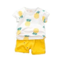 цена на New Fashion Summer Baby Girl Clothes Children Boys Cotton Cartoon T Shirt Shorts 2Pcs/set Toddler Casual Clothing Kids Tracksuit