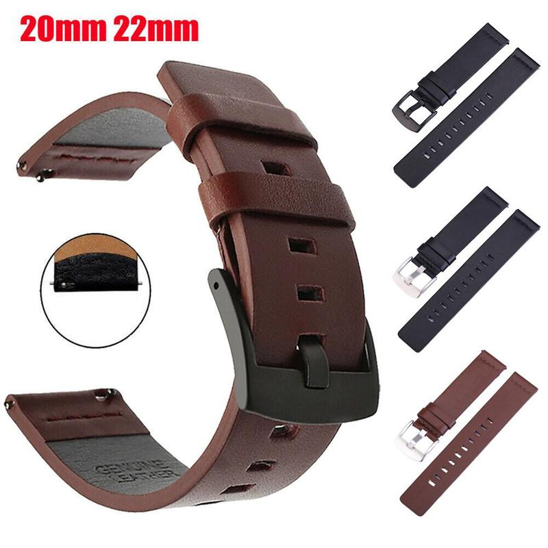 20/22mm Leather Watch Strap High Quality Genuine Watches Band Accessories Fashion General Wristwatch Belt Watchbands Hot Sale