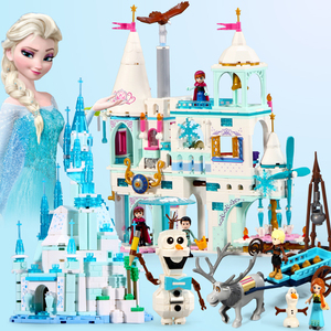 312pcs Snow Princess Elsa Anna Castle Compatible with Figures Building Blocks Toys For Girls Children Gifts(China)