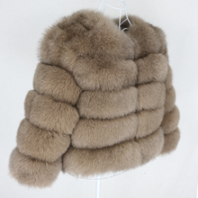 Oftbuy 2020 jaqueta de inverno feminino casaco de pele real natural grande fofo pele de raposa outerwear streetwear grosso quente três quartos manga