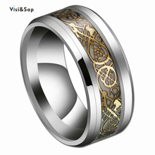 Visisap Luminous Fluorescence Titanium Steel Rings for Man Women Wholesale Stainless Punk Party Ring Dropshipping S-B51