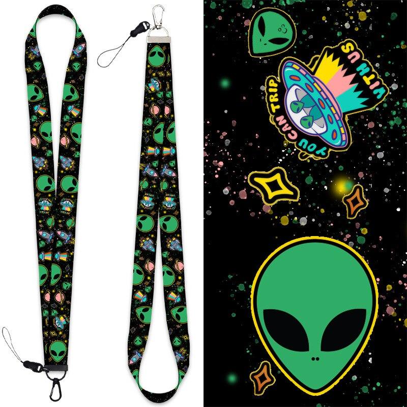 Купить модный брелок для ключей с изображением инопланетянина мобильного