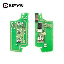 KEYYOU/FSK llave de coche placa de circuito electrónico CE0536 CE0523 para Peugeot 407, 407, 307, 308, 607 Citroen C2 C3 C4 C5 2/3 botones