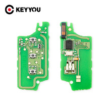 KEYYOU ASK/FSK Автомобильный ключ электронная печатная плата CE0536 CE0523 для Peugeot 407 407 307 308 607 Citroen C2 C3 C4 C5 2/3 кнопки