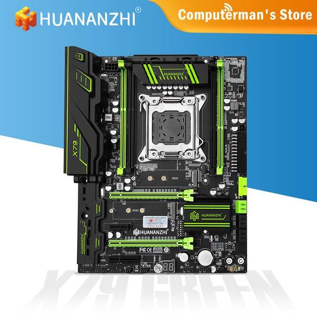 HUANANZHI X79 GREEN X79 Motherboard Intel XEON E5 LGA2011 All Series DDR3 RECC Non-ECC Memory supports NVME NGFF Workstation