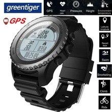 Greentiger S968 Gps Smart Horloge IP68 Waterdichte Hartslagmeter Sport Horloge Stappenteller Zwemmen Mannen Outdoor Smartwatch