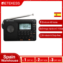 Retekess V115 FM/AM/SW récepteur de Radio Portable lecteur MP3 REC enregistreur Radio Portable avec minuterie de sommeil carte TF