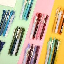 4 шт./компл. простота, цветная гелевая ручка, прямая ручка, хайлайтер, набор шариков, студенческий подарок, канцелярские принадлежности, школ...