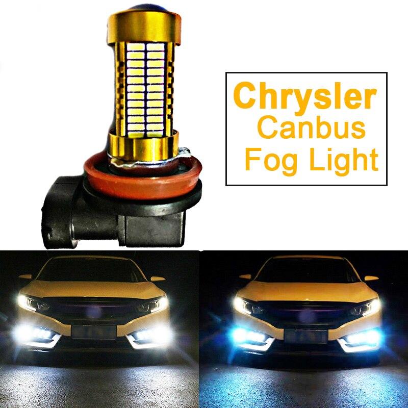 1 Uds 2504 H10 9145 H8 H11 HB4 9006 coche LED luz PSX24W lámpara para Chrysler Sebring Aspen fuego cruzado Pacifica 300C 300M PT Cruiser