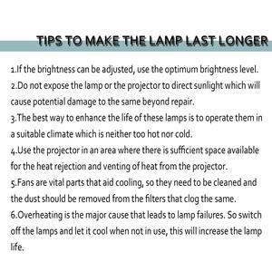 Image 5 - Лампа для проектора для PANASONIC