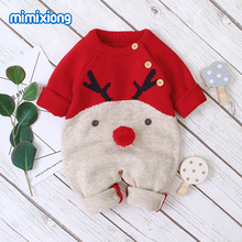 Baby Rompers Newborn Boys Girls Jumpsuit Winter Christmas Knitted Toddler