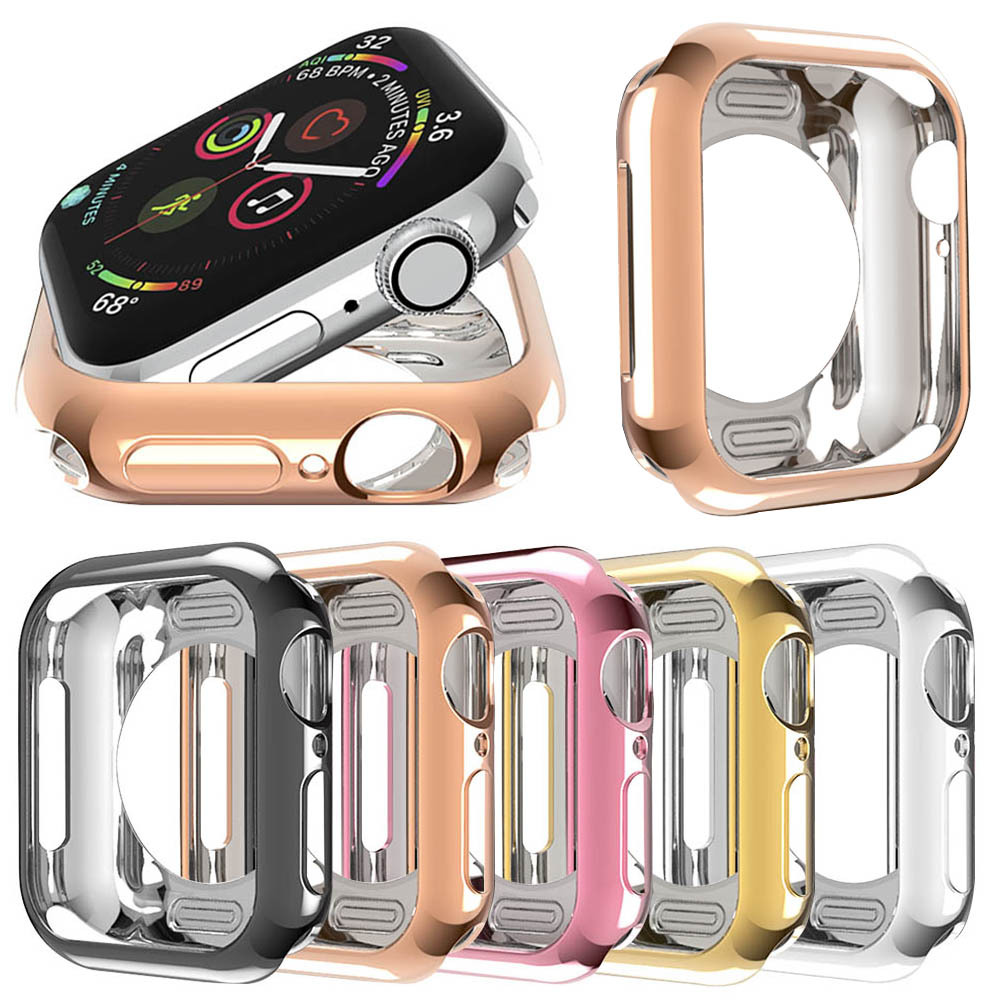 360 Slim <font><b>Watch</b></font> Cover for <font><b>Apple</b></font> <font><b>Watch</b></font> <font><b>Case</b></font> 42MM <font><b>38MM</b></font> Soft Clear TPU Screen Protector for iWatch 5 4 <font><b>3</b></font> 44MM 40MM waterproof Shell image