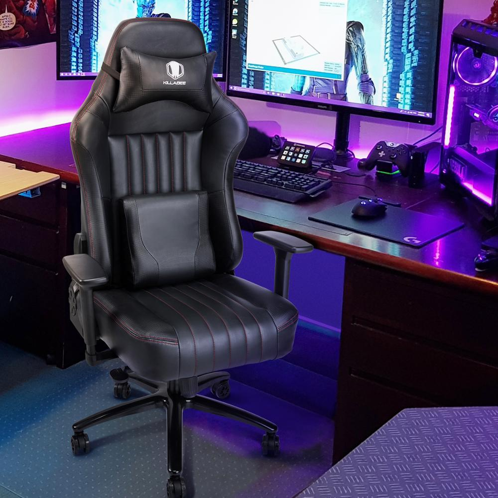 Office Leather Gaming Chair Gaming Chair Racing Office Chair -Back Angle Ergonomic High-Back Leather