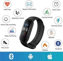 M5 banda inteligente das mulheres dos homens m5 relógio inteligente freqüência cardíaca pressão arterial monitor de sono pedômetro conexão bluetooth para ios android
