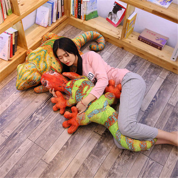 oversized peluche simulation lizard and chameleon plush toys stuffed animals pillow home decor animal baby room toys brinquedos 60cm colorful giant elephant stuffed animal toy animal shape pillow baby doll home decor peluche plush toys for children gifts