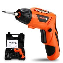 Electric Screwdriver Cordless Drill Lithium Battery Rechargeable Impact Drill Driver Mini Torque Adjustment LED Light Power Tool voto ac 100 240v cordless 12v electric drill screwdriver with adjustment switch and two speed adjustment button for punching