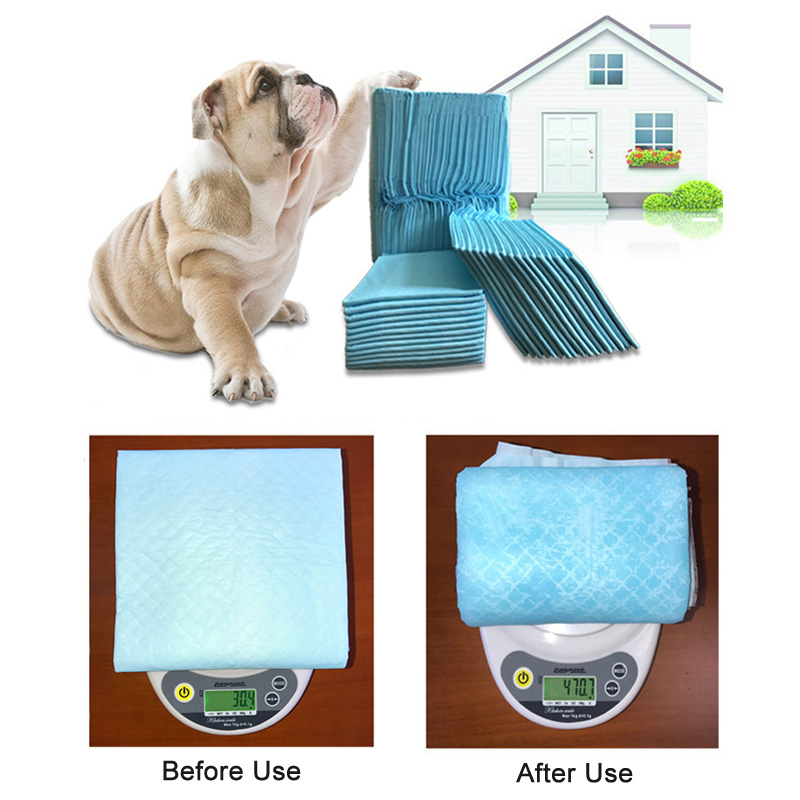 Disposable and Super Absorbent 100 Pcs Dog Training Pad for Pets with Pure Wood Pulp 10