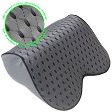 مقعد مسند الرأس للسيارة مصنوع من الفوم القطني بذاكرة L2W لدعم راحة الرأس والرقبة وسادة دعم للرأس وسادة دعم للسفر مقعد آمن من النسيج الناعم