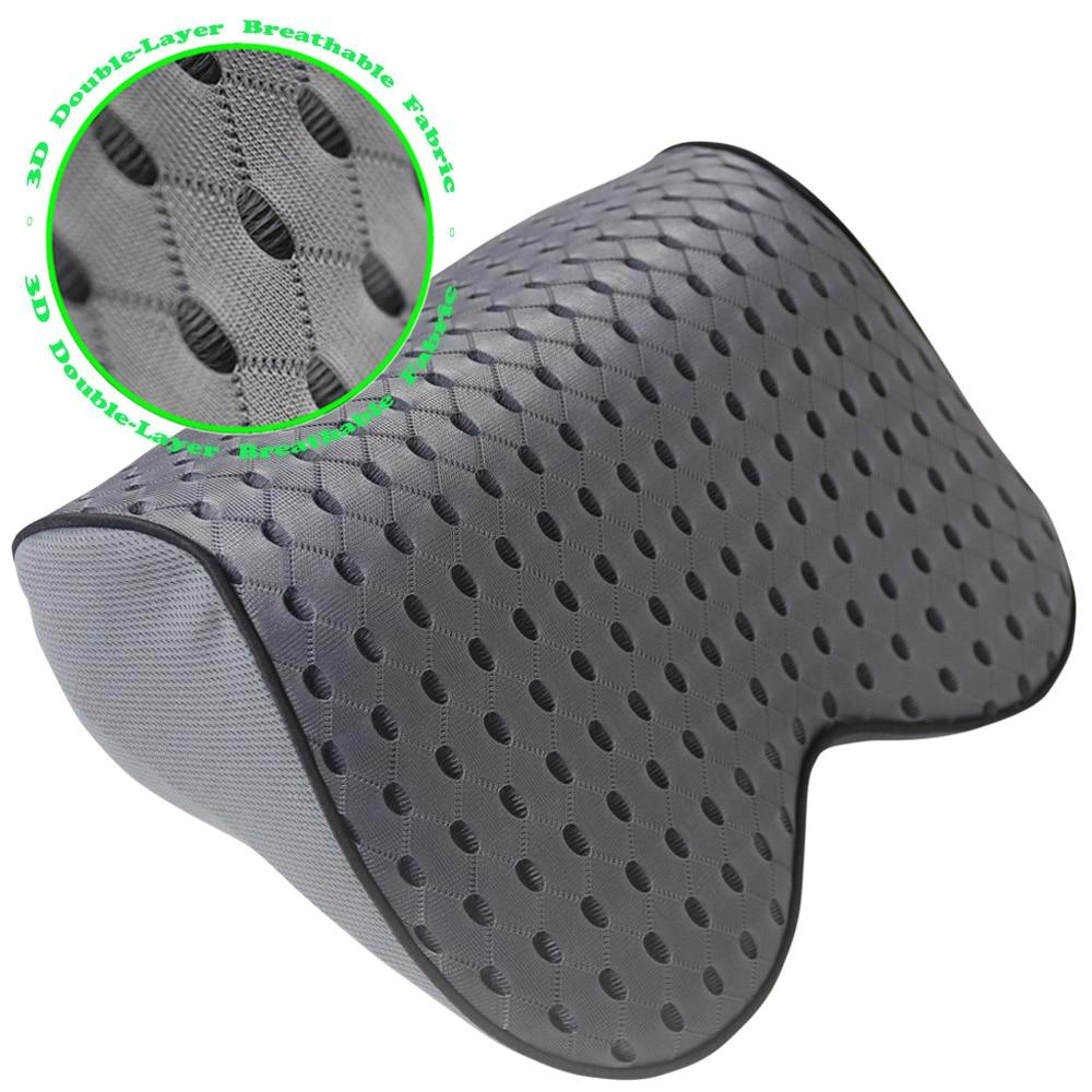 Aurelius Memory Foam Car Neck Pillow Car Headrest Pillow Car Seat Head Neck Support Cushion For Driving Fit For Travel//Home//Office Chair 2PCS, Black+Black