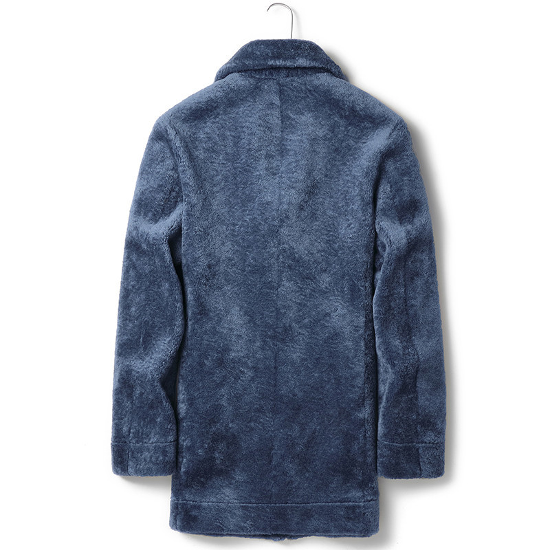 Autumn Winter Jacket Men Sheep Shearling Fur Coat Double-side Wear Suede Jacket Chaqueta Hombre JLK18YC1993MY1245