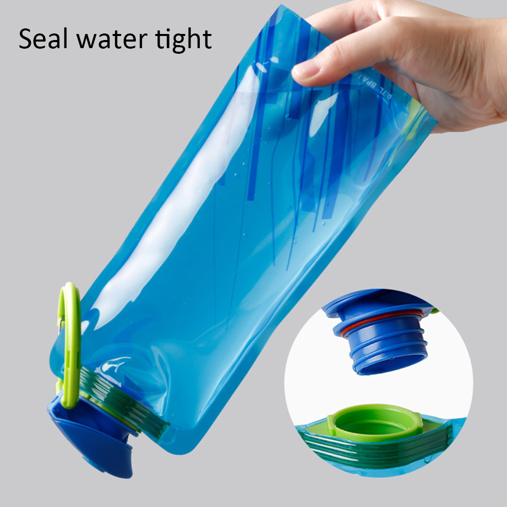 H2612841a17e144bd9bec78affc258b48j 700ml Water Bottle Bags Environmental Protection Collapsible Portable Outdoor Foldable Sports Water Bottles For Hiking Camping