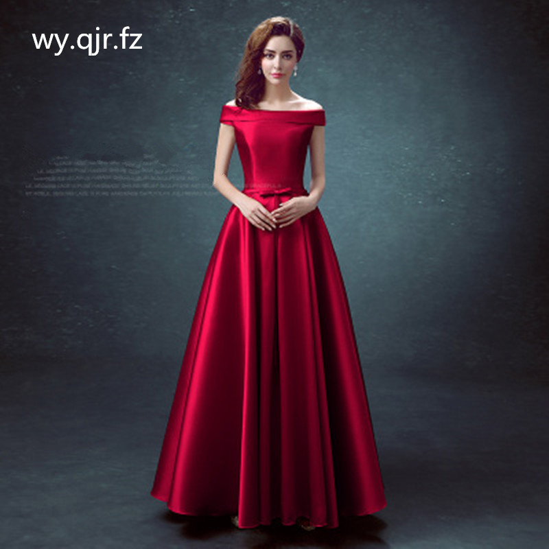 BSHS-8075#Long Bridesmaid Dress Royal blue Burgundy Red Champagne Wedding Party Dress Graduation Quinceanera dress Wholesale