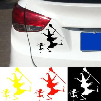 Dance Witch Cat Funny Car-Styling Vehicle Reflective Decals Sticker Decoration image