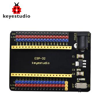 Keyestudio ESP32-IO tarcza dla Arduino ESP32 Wroom płyta główna ((Pls sprawdzić rozstaw Pin Header ostrożnie przed zakupem) tanie i dobre opinie CN (pochodzenie) Nowy REGULATOR NAPIĘCIA do komputera -25℃ to +65℃ DC 7-12V