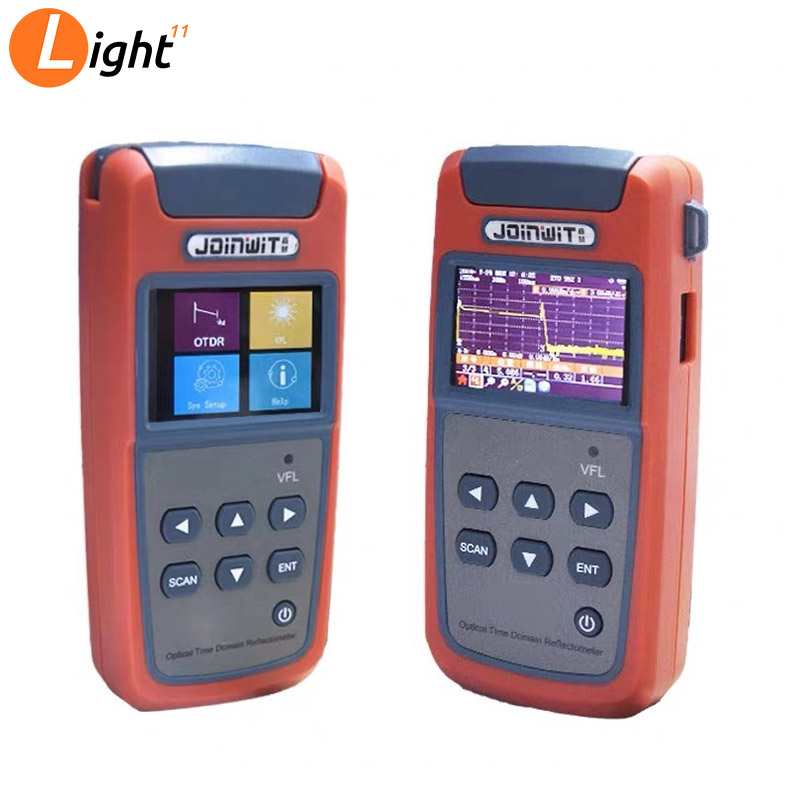 New Small OTDR JW3305A 1310/1550nm FTTH Optical Time Domain Reflectometer OTDR Built-in Visual Fault Locator Function