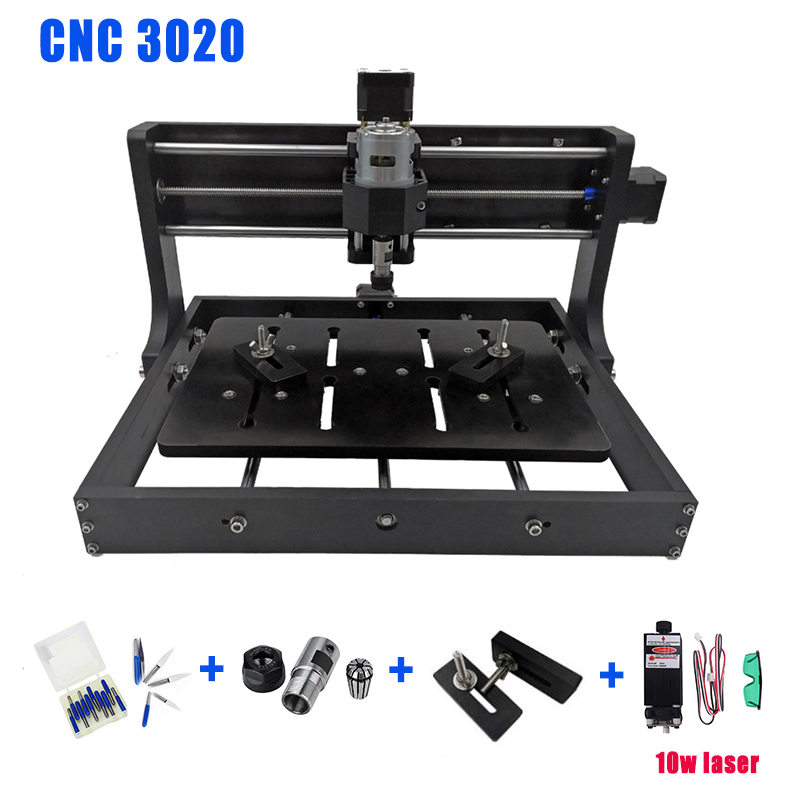 CNC 3020 With ER11 Diy Mini Cnc Machine,3 Axis Pcb Milling Machine,Wood Router, Laser Engraving With GRBL Control And Offline