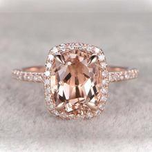 Кольцо для помолвки с квадратным камнем Женское кольцо на палец