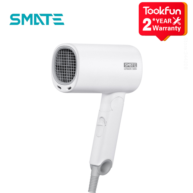 2020 New SMATE SH A121 Mini Anion Hair Dryer Negative Ion hair care Quick Dry Portable Travel Foldable Hairdryer diffuser