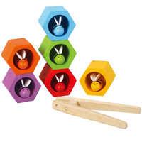 Candywood Clip abeja panal juego niños juguetes de madera juguetes educativos para niños