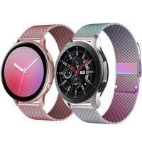 20mm/22mm cinturino Milanese Huawei watch GT 2-2e-Pro bracciale per Samsung Galaxy watch 3 45mm/46mm/42mm/attivo 2 44mm 40mm cinturino