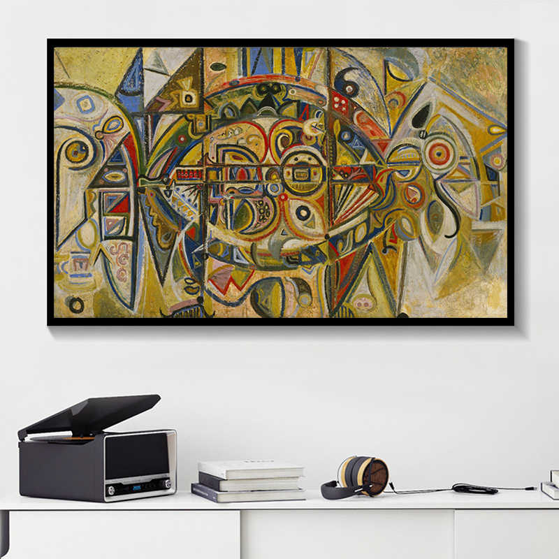 Abstract Art Gorky Spray Big Size Canvas Painting Hot Selling ...