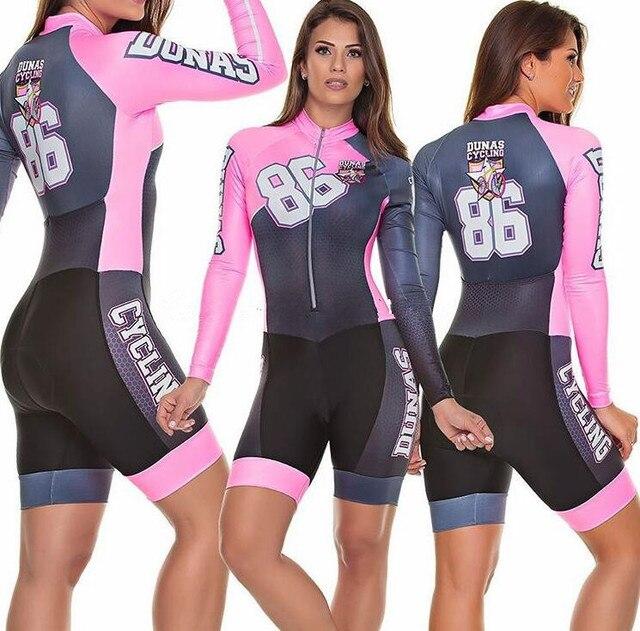 Terno de triathlon profissional, camiseta de ciclismo preta feminina, macacão, manga longa em gel, conjunto de ciclismo, 2019 2