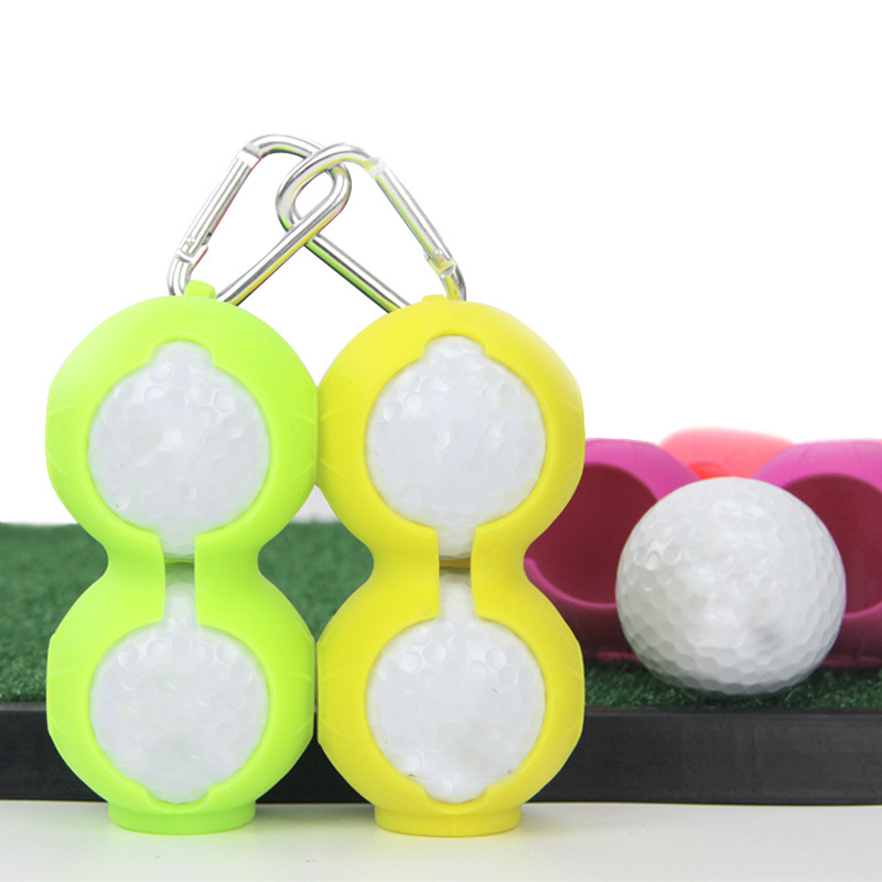 Silicone Golf Ball Cover Wear Resistant Protective Keyring Keychain Golf Accessories Supplies Lightweight Golf Ball Sleeve