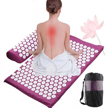 Mata do akupresury z kolcami do masażu mata do jogi uwalnia stres pomaga przy bólu kręgosłupa tanie i dobre opinie CN (pochodzenie) Other 6 mm (dla początkujących) TP0409
