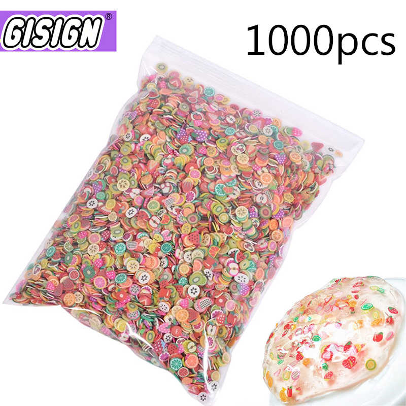 1000pcs Fruit Slices Filler For Nail Art Slime Fruit Fimo Addition For Lizun Diy Charm Slime Accessories Supplies Decoration Toy