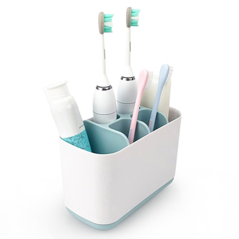 Electric Toothbrush Holder Bathroom Storage Organizer Simple Modern Style Large Size Storage Box with 6 Compartments @L image