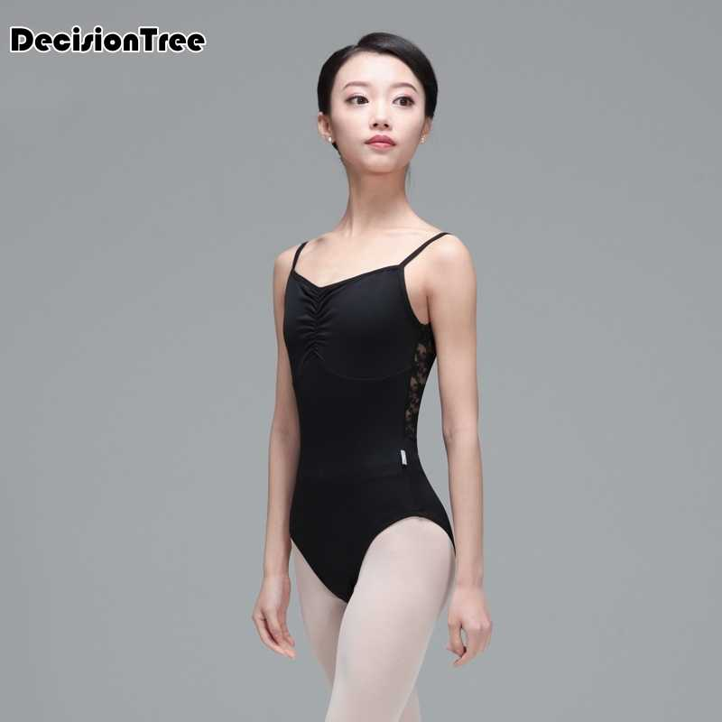 2020 ballet adult ballet leotards for women spandex scoop black ballet gymnastics bodysuit leotard ballet adulto Tutu Tank mesh