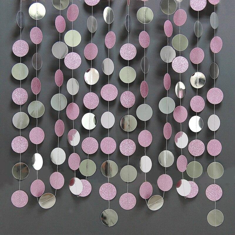 Rose Gold Silver Pink Twinkle Little Star Party Garlands Kit Metallic Glitter Matt Paper Garland Bunting Banner For Birthday Bab