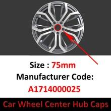 Badge-Emblem Center-Cap 75mm-Wheel Mercedes-Benz Hub-Cover Logo 4pcs for E-S-Sl Slk-Ml