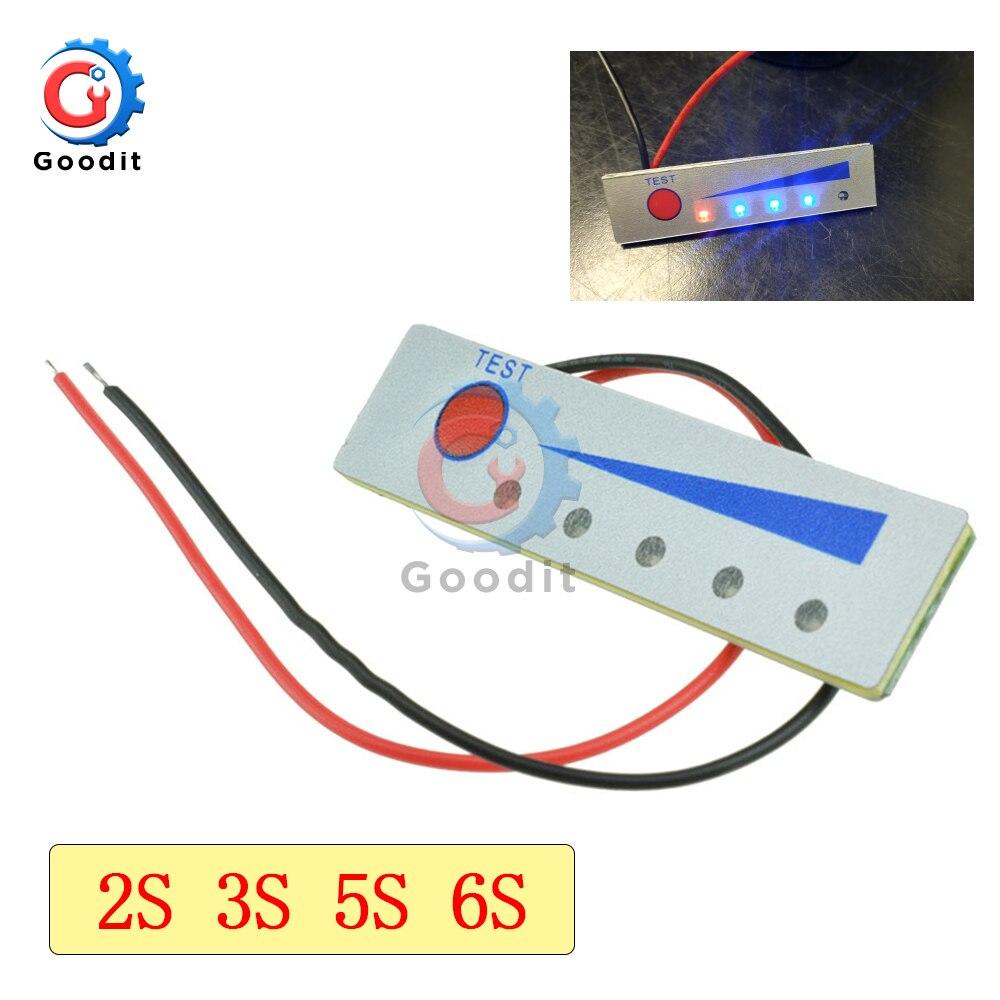 2S 3S 5S 6S 18650 индикатор емкости литиевой батареи индикатор заряда батареи тестер Li-po Li-Ion Pack светодиодный индикатор заряда батареи