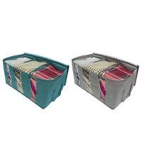 3 adet giysi saklama torbaları kalın katlanabilir organizatör eşya kutuları giysi için