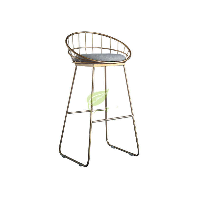 Simple Bar Stool Wrought Iron Bar Chair  Stool Bar Tabouret De Bar Gold High Stool Modern Dining Chair Nordic Golden Furniture