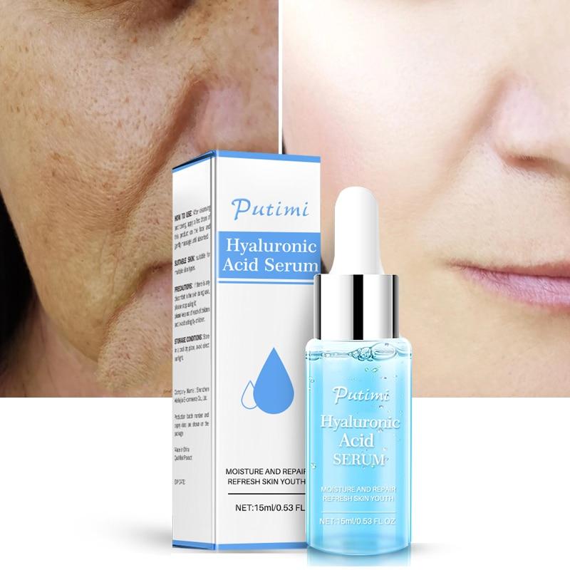 PUTIMI 15ML Hyaluronic Acid Serum Skin Care Whitening Nourish Treatment Anti Wrinkle Anti Aging For Face Fine Lines Face TSLM1