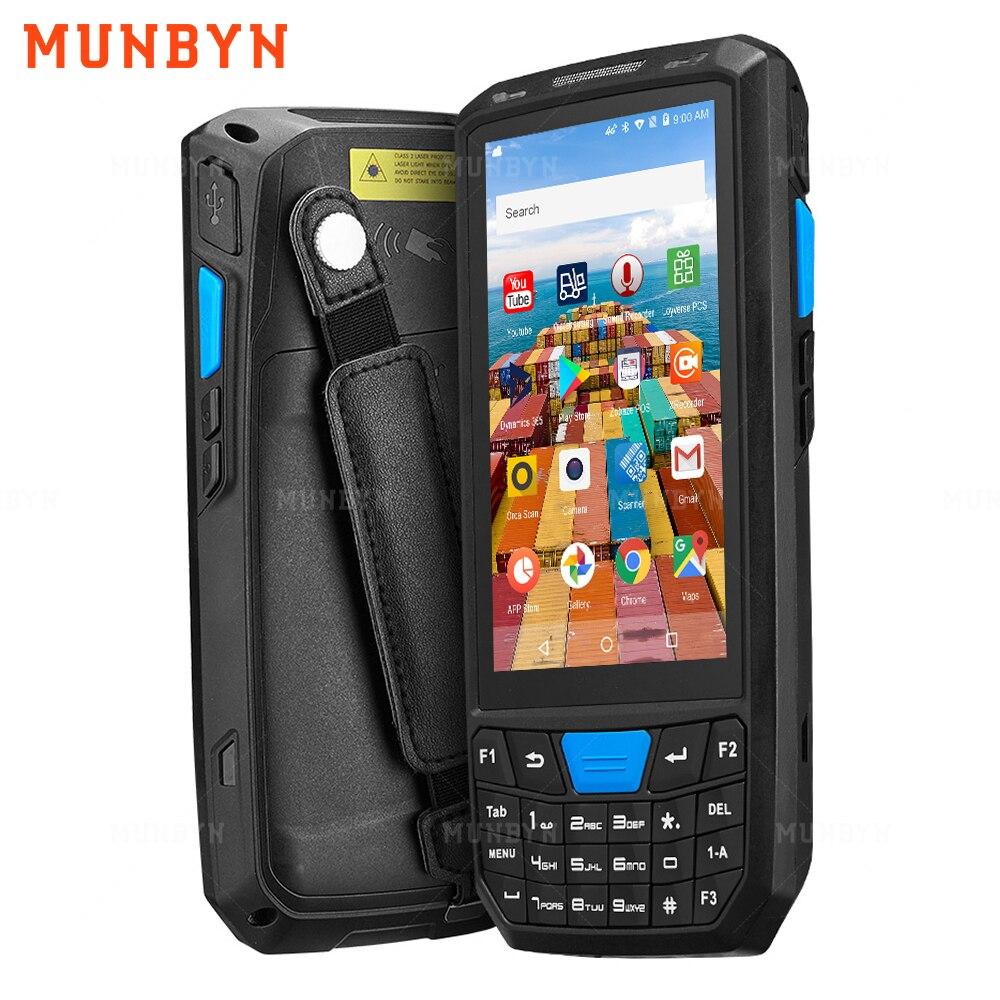 MUNBYN Прочный Android 8,1 Ручной PDA сканер 1D 2D считыватель штрих-кодов 4G WiFi Bluetooth GPS склад PDA сборщик данных инвентаризация