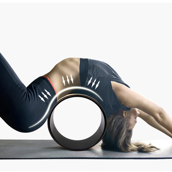 Wholesale Professional Cork Sport Dharma Yoga Wheel Stretch Yoga Circle Pilates Ring for Improving Yoga Posture and Back Roller