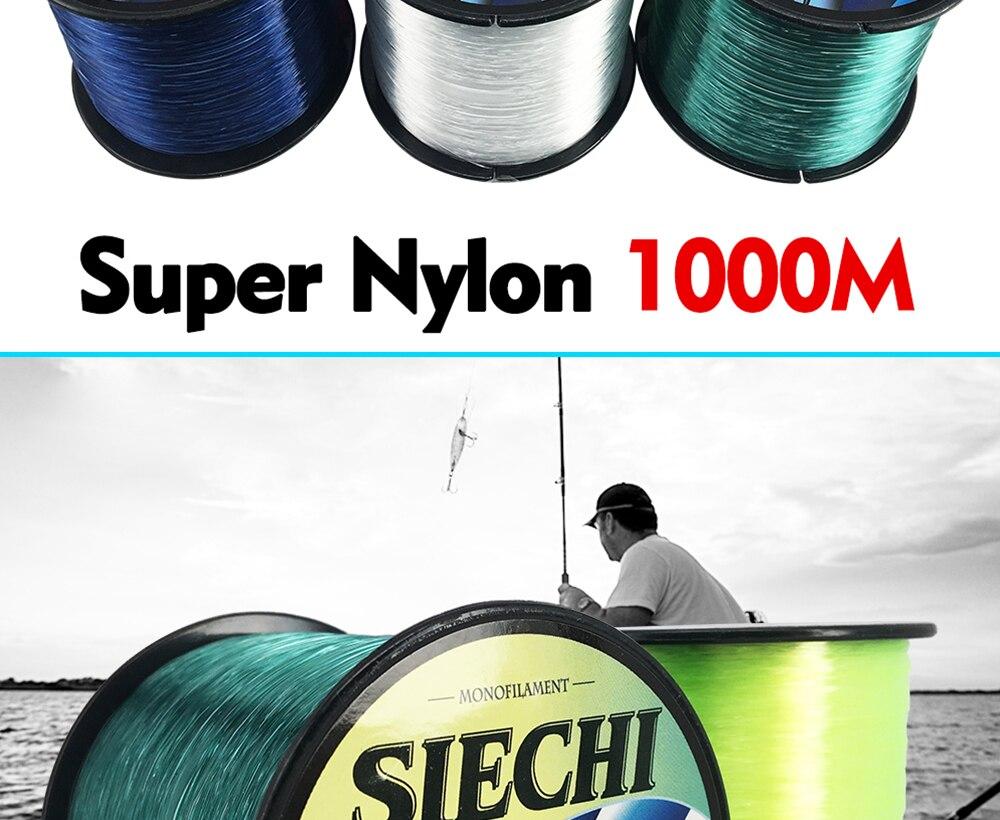 1000 m náilon linha de pesca monofilamento